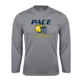Performance Steel Longsleeve Shirt-Lacrosse Design
