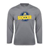Performance Steel Longsleeve Shirt-Soccer Circle Design
