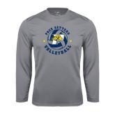 Performance Steel Longsleeve Shirt-Volleyball Star Design
