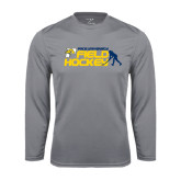 Performance Steel Longsleeve Shirt-Field Hockey Design