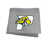 Grey Sweatshirt Blanket-P w/T-Bone