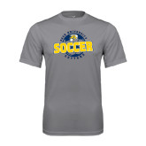Performance Grey Concrete Tee-Soccer Circle Design