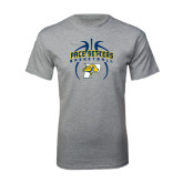 Grey T Shirt-Graphics in Basketball