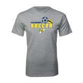 Grey T Shirt-Soccer Swoosh