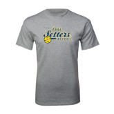 Grey T Shirt-Softball Design