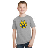 Youth Grey T-Shirt-Paw