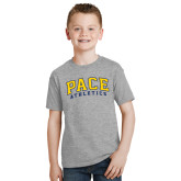 Youth Grey T-Shirt-Arched Pace Athletics