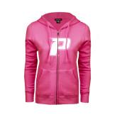 ENZA Ladies Fuchsia Fleece Full Zip Hoodie-P