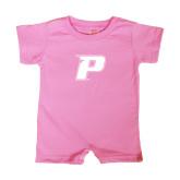 Bubble Gum Pink Infant Romper-P
