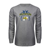 Grey Long Sleeve T Shirt-Graphics in Basketball