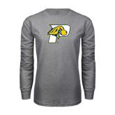 Grey Long Sleeve T-Shirt-P w/T-Bone