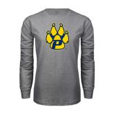 Grey Long Sleeve T-Shirt-Paw