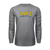 Grey Long Sleeve T-Shirt-Arched Pace Athletics
