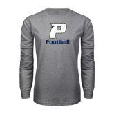 Grey Long Sleeve T-Shirt-Football