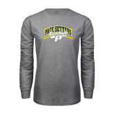 Grey Long Sleeve T-Shirt-Baseball Design