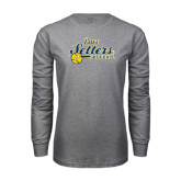 Grey Long Sleeve T-Shirt-Softball Design