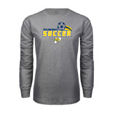 Grey Long Sleeve T-Shirt-Soccer Swoosh