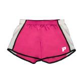 Ladies Fuchsia/White Team Short-P