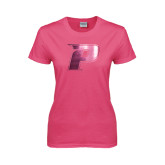 Ladies Fuchsia T Shirt-P Foil