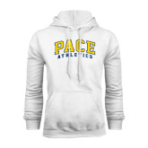 White Fleece Hood-Arched Pace Athletics