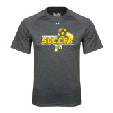 Under Armour Carbon Heather Tech Tee-Soccer Swoosh