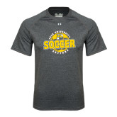 Under Armour Carbon Heather Tech Tee-Soccer Circle Design