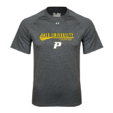 Under Armour Carbon Heather Tech Tee-Stacked Lacrosse Design