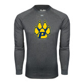 Under Armour Carbon Heather Long Sleeve Tech Tee-Paw