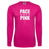 Hot Pink Long Sleeve T Shirt-PACE Goes Pink
