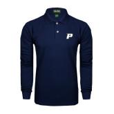 Navy Long Sleeve Polo-P