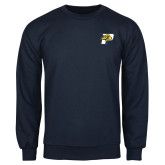Navy Fleece Crew-P w/T-Bone