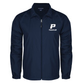 Full Zip Navy Wind Jacket-Baseball