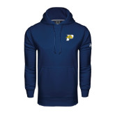 Under Armour Navy Performance Sweats Team Hoodie-P w/T-Bone