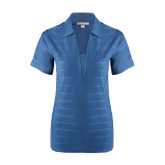 Ladies Indigo Blue Horizontal Textured Polo-P
