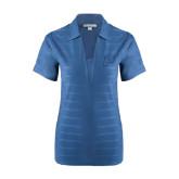 Ladies Indigo Blue Horizontal Textured Polo-P