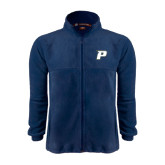 Fleece Full Zip Navy Jacket-P