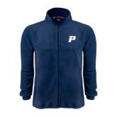 Fleece Full Zip Navy Jacket-P