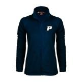 Ladies Fleece Full Zip Navy Jacket-P