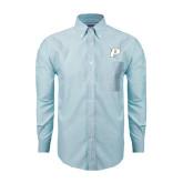 Mens Light Blue Oxford Long Sleeve Shirt-P