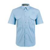 Light Blue Short Sleeve Performance Fishing Shirt-P