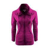 Ladies Sport Wick Stretch Full Zip Deep Berry Jacket-P