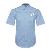 Light Blue Twill Button Down Short Sleeve-P