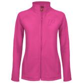 Ladies Fleece Full Zip Raspberry Jacket-P