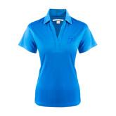 Ladies Light Blue Performance Fine Jacquard Polo-P