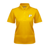 Ladies Gold Dry Mesh Polo-P