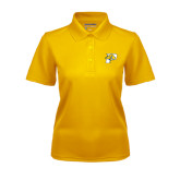Ladies Gold Dry Mesh Polo-P w/T-Bone