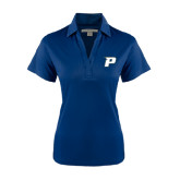 Ladies Navy Performance Fine Jacquard Polo-P