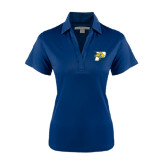 Ladies Navy Performance Fine Jacquard Polo-P w/T-Bone
