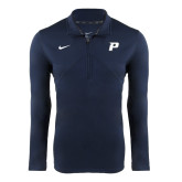 NIKE Navy Dri Fit Training 1/4 Zip Top-