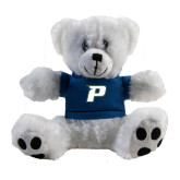 Plush Big Paw 8 1/2 inch White Bear w/Navy Shirt-P